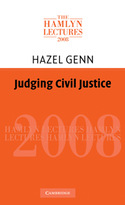 Judging Civil Justice