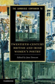 The Cambridge Companion to Twentieth-Century British and Irish Women's Poetry