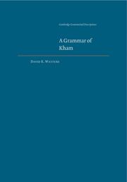 A Grammar of Kham
