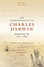 The Correspondence of Charles Darwin 8 Volume Set