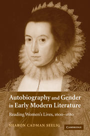 Autobiography and Gender in Early Modern Literature