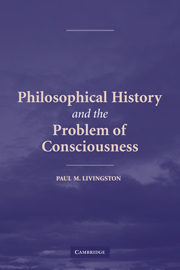 Philosophical History and the Problem of Consciousness