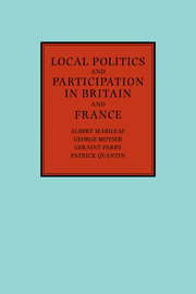 Local Politics and Participation in Britain and France
