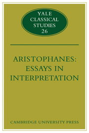 Aristophanes: Essays in Interpretation