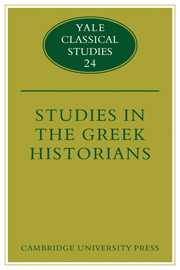 Studies in the Greek Historians