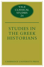 Studies in the Greek Historians