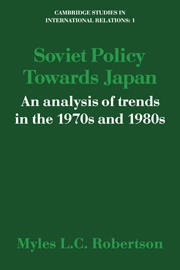 Soviet Policy Towards Japan
