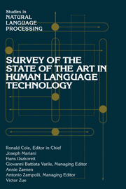 Survey of the State of the Art in Human Language Technology
