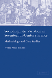 Sociolinguistic Variation in Seventeenth-Century France