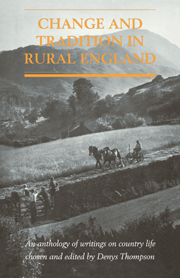 Change and Tradition in Rural England