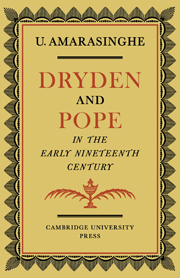 Dryden and Pope in the Early Nineteenth-Century