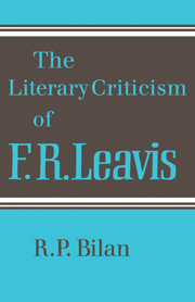 The Literary Criticism of F. R. Leavis