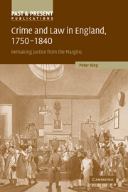 Crime and Law in England, 1750–1840