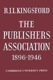 The Publishers Association 1896–1946
