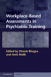 Workplace-Based Assessments in Psychiatric Training