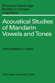 Acoustical Studies of Mandarin Vowels and Tones
