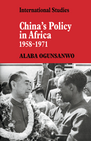 China's Policy in Africa 1958–71