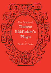 The Canon of Thomas Middleton's Plays