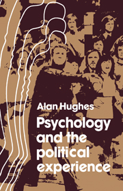 Psychology and the Political Experience