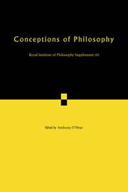 Conceptions of Philosophy
