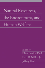 Natural Resources, the Environment, and Human Welfare