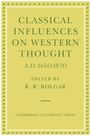 Classical Influences on Western Thought A.D. 1650-1870