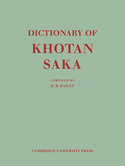 Dictionary of Khotan Saka
