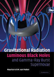 Gravitational Radiation, Luminous Black Holes and Gamma-Ray Burst Supernovae