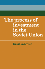 The Process of Investment in the Soviet Union