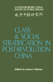 Class and Social Stratification in Post-Revolution China