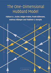 The One-Dimensional Hubbard Model