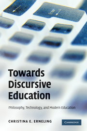 Towards Discursive Education