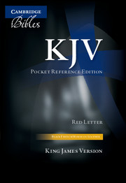 KJV Pocket Reference Bible, Black French Morocco Leather with Zip Fastener, Red-letter Text, KJ243:XRZ