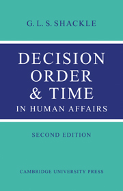 Decision Order and Time in Human Affairs