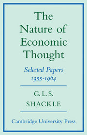 The Nature of Economic Thought