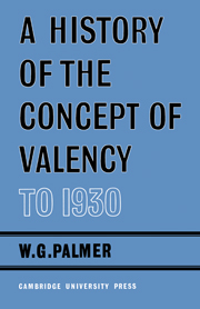 A History of the Concept of Valency to 1930