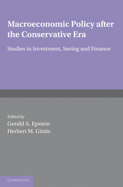 Macroeconomic Policy after the Conservative Era