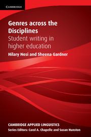 Genres across the Disciplines