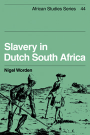 Slavery in Dutch South Africa