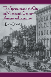 The Spectator and the City in Nineteenth Century American Literature