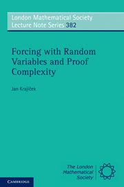 Forcing with Random Variables and Proof Complexity