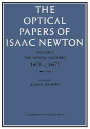 Optical Papers of Isaac Newton