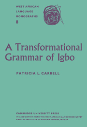 A Transformational Grammar of Igbo