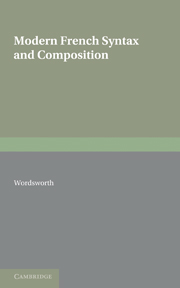 Modern French Syntax and Composition