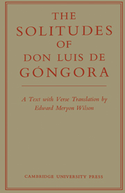 The Solitudes of Don Luis De Góngora
