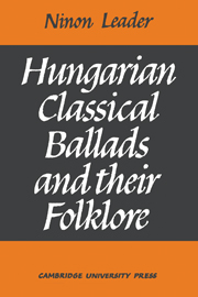 Hungarian Classical Ballads