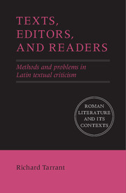 Texts, Editors, and Readers