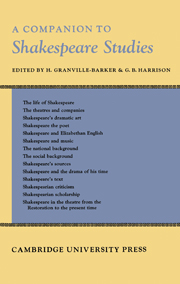 Companion to Shakespeare Studies