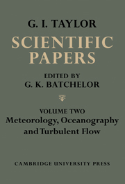 The Scientific Papers of Sir Geoffrey Ingram Taylor