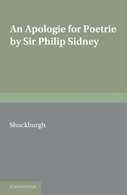 An Apologie for Poetrie by Sir Philip Sidney